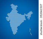 map of india | Shutterstock .eps vector #352061537