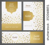 golden  decor. template frame... | Shutterstock .eps vector #352068851