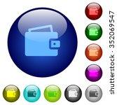 set of color wallet glass web...