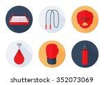 boxing sport equipment icons... | Shutterstock .eps vector #352073069
