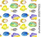 Seamless Watercolor Fish...