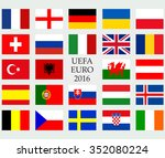 uefa euro 2016 member countries ... | Shutterstock .eps vector #352080224