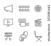 film  movie and video outline... | Shutterstock .eps vector #352081661