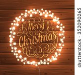 glowing white christmas lights... | Shutterstock .eps vector #352090265