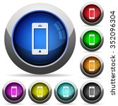 set of round glossy cellphone...