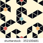 seamless abstract pattern of... | Shutterstock .eps vector #352100681