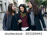 Outdoor Portrait Of Three Youn...