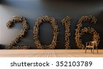 more chairs   happy new year... | Shutterstock . vector #352103789
