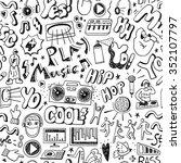 music seamless pattern | Shutterstock .eps vector #352107797