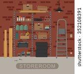 storeroom interior with metal... | Shutterstock . vector #352108391