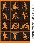 sport pictogram set  | Shutterstock .eps vector #352112111