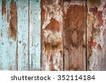 weathered wood wall background | Shutterstock . vector #352114184