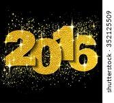 happy new year 2016 typography... | Shutterstock .eps vector #352125509