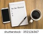 book  new year resolutions | Shutterstock . vector #352126367