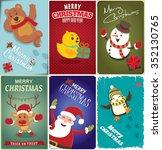 vintage christmas poster design ... | Shutterstock .eps vector #352130765