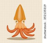 squid theme elements   Shutterstock .eps vector #352135319
