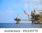 offshore construction platform... | Shutterstock . vector #352135775