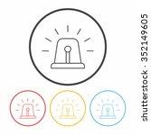 alarm line icon | Shutterstock .eps vector #352149605