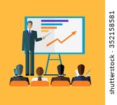 training staff briefing... | Shutterstock . vector #352158581