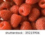 Raspberry background - stock photo