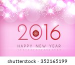 new year on pink glow... | Shutterstock .eps vector #352165199