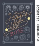 happy new year typography and... | Shutterstock .eps vector #352165205