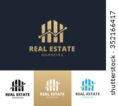 real estate marketing logo... | Shutterstock .eps vector #352166417