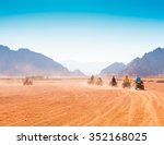 motorcycle safari in the land... | Shutterstock . vector #352168025