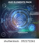 hud elements for motion design. ... | Shutterstock .eps vector #352172261