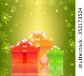 christmas background with gift... | Shutterstock . vector #352173524
