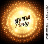 new year party greeting card | Shutterstock .eps vector #352178264
