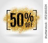 Stock vector gold sale percent golden sale percent on gold background shine salling background for 352181024