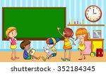 children learning in the... | Shutterstock .eps vector #352184345