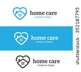 home care logo template | Shutterstock .eps vector #352187795