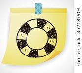 lifebuoy doodle | Shutterstock .eps vector #352189904