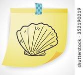 shell doodle | Shutterstock .eps vector #352190219