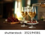 Pouring White Wine From Bottle - Fine Art prints
