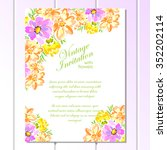 invitation with floral... | Shutterstock .eps vector #352202114
