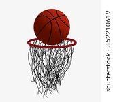 basketball hoop and ball | Shutterstock .eps vector #352210619