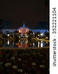 Balboa Park Pond At Night