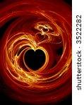 Rendered Fractal Fire Hearts...