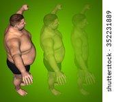 concept or conceptual 3d fat... | Shutterstock . vector #352231889