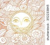 ethnic sun   Shutterstock .eps vector #352233845