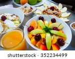 healthy food for breakfast ... | Shutterstock . vector #352234499