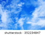 clouds with blue sky    | Shutterstock . vector #352234847