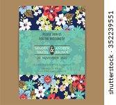 wedding invitation card or... | Shutterstock .eps vector #352239551