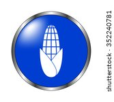 corn   vector icon on the blue... | Shutterstock .eps vector #352240781