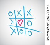 ox  tic tac toe  vector... | Shutterstock .eps vector #352241741