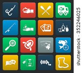 fishing 16 icons universal set... | Shutterstock .eps vector #352246025