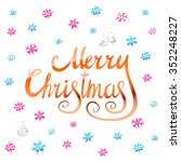 merry christmas   orange... | Shutterstock . vector #352248227